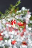 Christmas Angel. Wooden angel Christmas decoration on tree branch Royalty Free Stock Photo