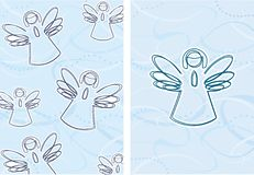 Christmas angels. Holidays,religion,illustrations vector illustration