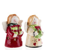 Christmas angels bringing gifts Stock Photography
