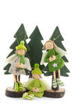 Christmas angels in pine tree Stock Photos