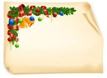 Christmas angle garland card Royalty Free Stock Photos