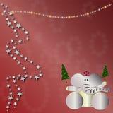 Christmas animal card Stock Photography