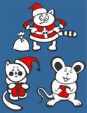 Christmas Animals Royalty Free Stock Photos