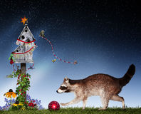 Christmas animals decorating Royalty Free Stock Photography