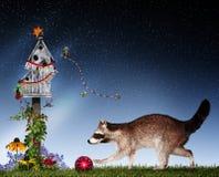 Christmas animals decorating royalty free stock photography