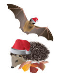 Christmas animals Stock Images