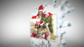 Christmas animation Royalty Free Stock Image