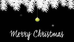 Christmas animation with colored balls stock video