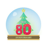 Christmas Anniversary 80 Years Stock Images