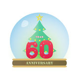 Christmas Anniversary 60 Years Royalty Free Stock Photography