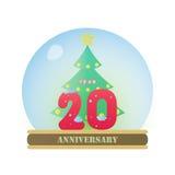Christmas Anniversary 20 Years. The Christmas anniversary 20 years logo Vector Illustration