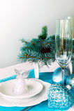 Christmas ans New Year table decoration Stock Photos