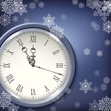 Christmas antique clocks Stock Photography