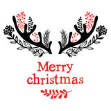 Christmas antlers Royalty Free Stock Photo