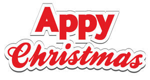 Christmas App Lettering - Appy Christmas Stock Photo