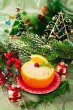 Christmas  appetizer in orange Stock Photo