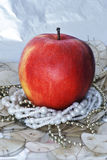 Christmas apple Stock Images