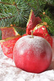 Christmas apple. Royalty Free Stock Photos