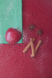 Christmas apple anis and cinnamon Stock Photography