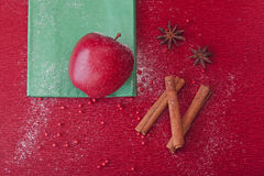Christmas apple anise and cinnamon Royalty Free Stock Image