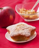 Christmas apple cake in shape of star Stock Photo