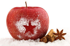 Christmas apple royalty free stock photos