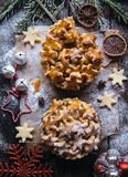 Christmas apple pie with caramel Royalty Free Stock Photography