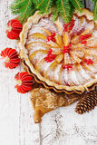 Christmas apple pie Stock Images