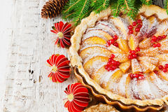 Christmas apple pie Royalty Free Stock Photography