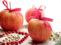 Christmas Apples Stock Photos