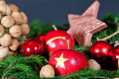 Christmas Apples Stock Photography