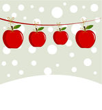 Christmas apples Royalty Free Stock Photos