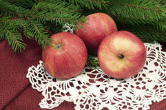 Christmas apples Stock Images