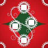 Christmas Applique Background. Vector Illustration For Design Stock Photo