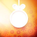 Christmas applique background.+ EPS10 Royalty Free Stock Image