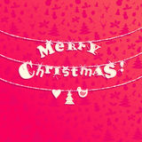 Christmas applique background Royalty Free Stock Images