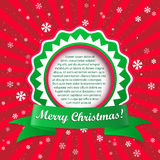 Christmas applique background. Vector illustration with frame fo Royalty Free Stock Photography