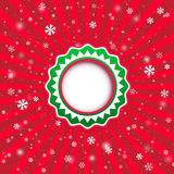 Christmas applique background. Vector illustration for your desi Royalty Free Stock Images