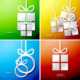 Christmas applique backgrounds Stock Photo