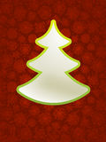 Christmas applique with tree. + EPS8. Christmas applique with tree background. + EPS8 vector file Stock Illustration