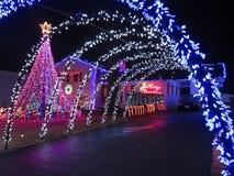 Christmas Arches Stock Photo