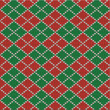 Christmas argyle background, seamless pattern incl Stock Image