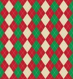 Christmas argyle pattern. Seamless tiled background of an argyle style pattern using Christmas colours Stock Image