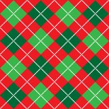 Christmas Argyle Pattern. Background illustration of red, white and green argyle pattern Royalty Free Stock Images