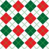 Christmas Argyle Pattern. Background illustration of red, white and green argyle pattern Royalty Free Stock Photo