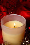 Christmas aroma candle. Background.  indoor Stock Photography