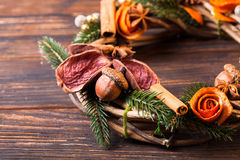 Christmas aromatic eco wreath Stock Images