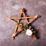 Christmas aromatic star Stock Photography