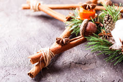 Christmas aromatic star Stock Image