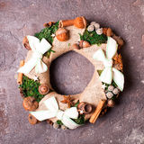 Christmas aromatic wreath Royalty Free Stock Photography
